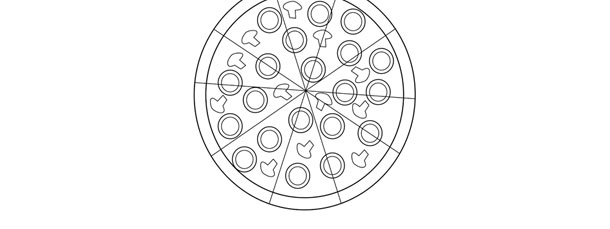 whole pizza template large