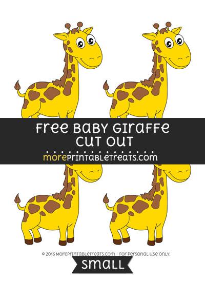Free Baby Giraffe Cut Out -Small