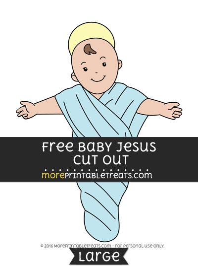 Free Baby Jesus Cut Out - Large