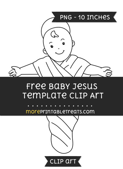 baby jesus template clipart