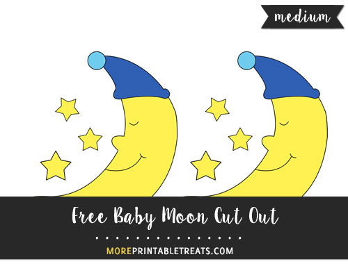 Free Baby Moon Cut Out - Medium