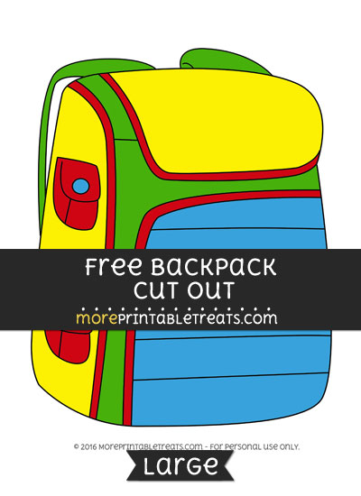 Free Backpack Cut Out - Large