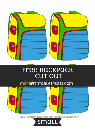 Free Backpack Cut Out -Small