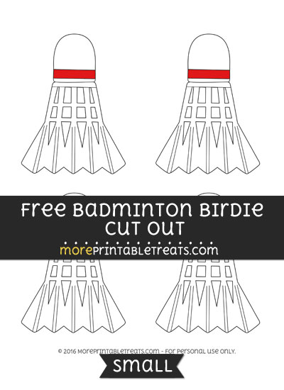 Free Badminton Birdie Cut Out -Small