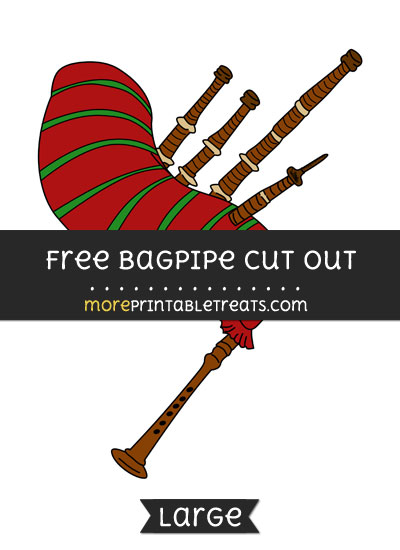 Free Bagpipe Cut Out - Large size printable