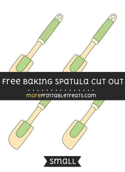 Free Baking Spatula Cut Out - Small Size Printable