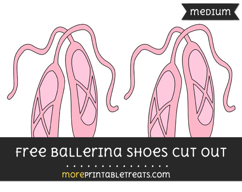 Free Ballerina Shoes Cut Out - Medium Size Printable