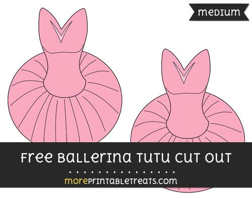 Free Ballerina Tutu Cut Out - Medium Size Printable