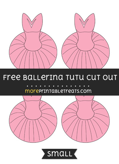 Free Ballerina Tutu Cut Out - Small Size Printable