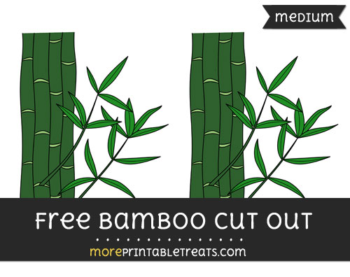 Free Bamboo Cut Out - Medium Size Printable