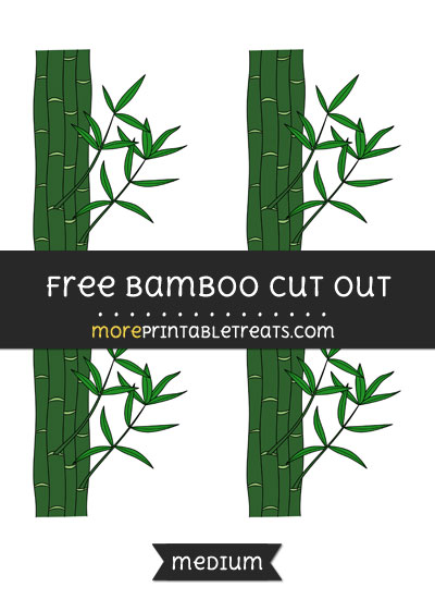 Free Bamboo Cut Out - Small Size Printable