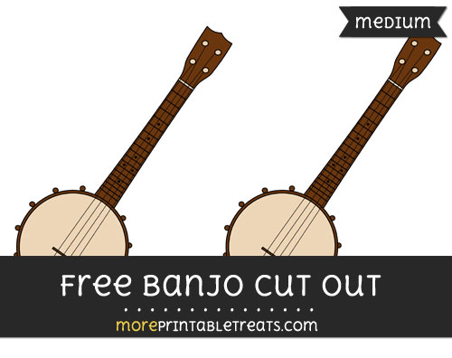 Free Banjo Cut Out - Medium Size Printable