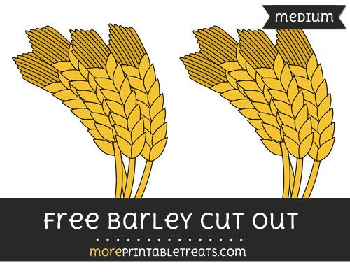 Free Barley Cut Out - Medium Size Printable