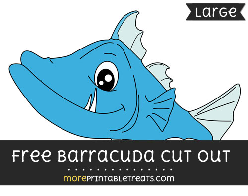 Free Barracuda Cut Out - Large size printable
