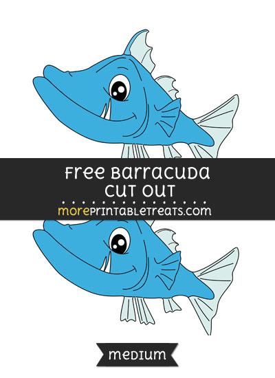 Free Barracuda Cut Out - Medium Size Printable