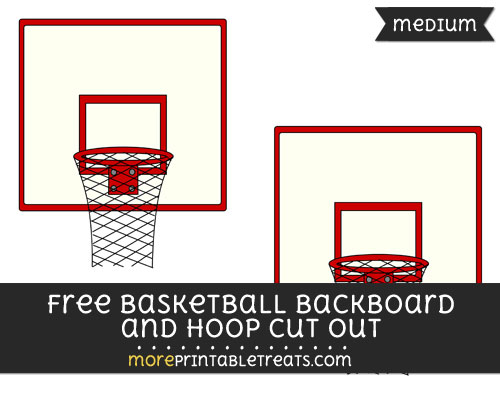 Free Basketball Backboard And Hoop Cut Out - Medium Size Printable
