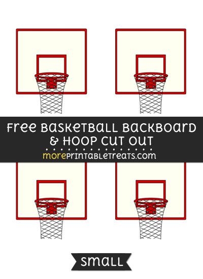 Free Basketball Backboard And Hoop Cut Out - Small Size Printable