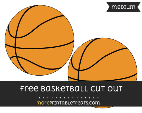 Free Basketball Cut Out - Medium Size Printable