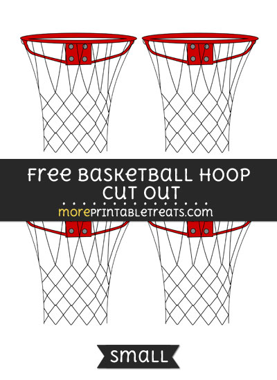 Free Basketball Hoop Cut Out - Small Size Printable