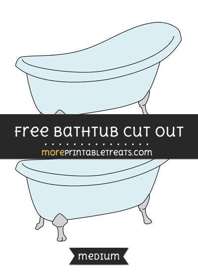Free Bathtub Cut Out - Medium Size Printable