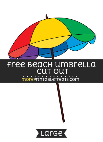 Free Beach Umbrella Cut Out - Large size printable