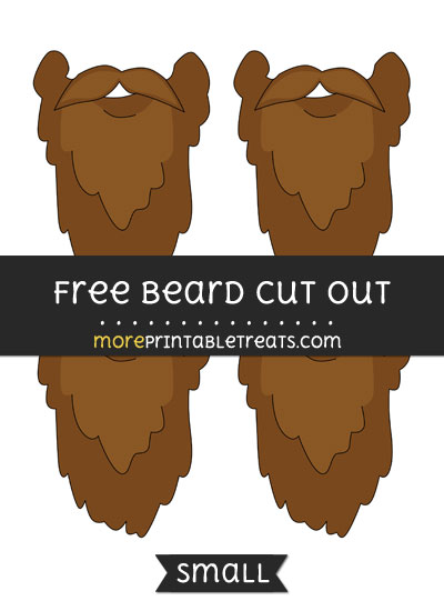 Free Beard Cut Out - Small Size Printable