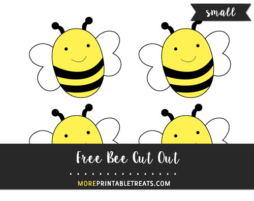 Free Bee Cut Out - Small