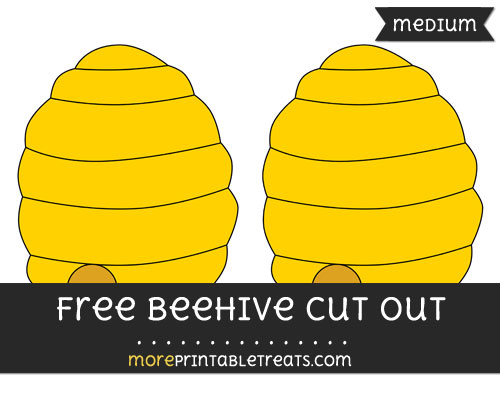 Free Beehive Cut Out - Medium Size Printable
