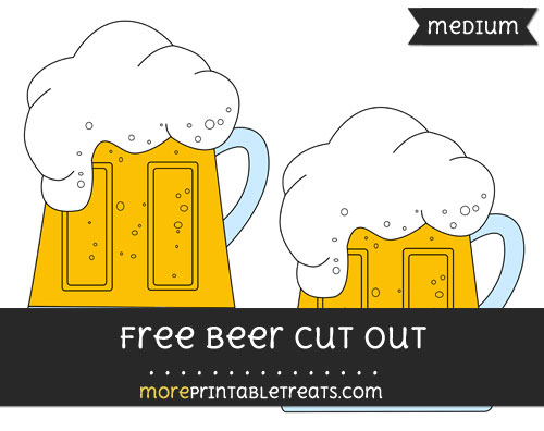 Free Beer Cut Out - Medium Size Printable