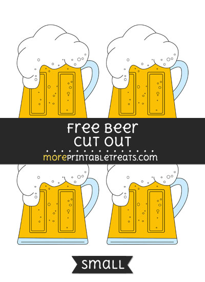 Free Beer Cut Out - Small Size Printable