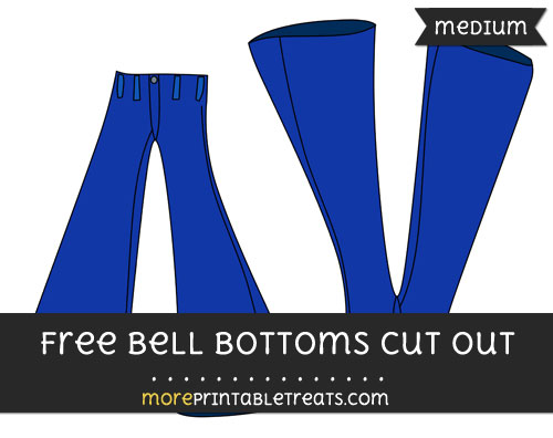 Free Bell Bottoms Cut Out - Medium Size Printable