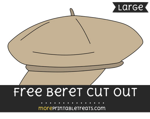 Free Beret Cut Out - Large size printable