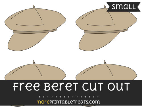 Free Beret Cut Out - Small Size Printable