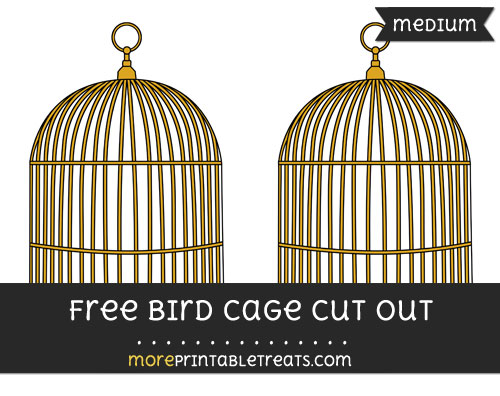 Free Bird Cage Cut Out - Medium Size Printable