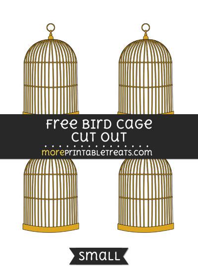 Free Bird Cage Cut Out - Small Size Printable