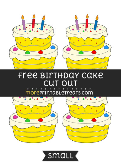 Free Birthday Cake Cut Out - Small Size Printable