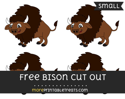 Free Bison Cut Out - Small Size Printable