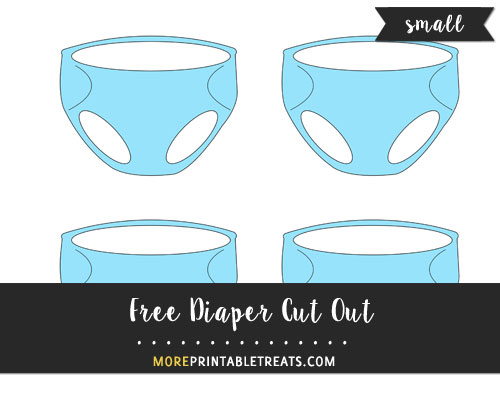 Free Blue Diaper Cut Out - Small