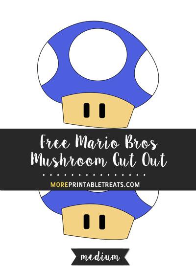 Free Blue Mario Bros Mushroom Cut Out - Medium