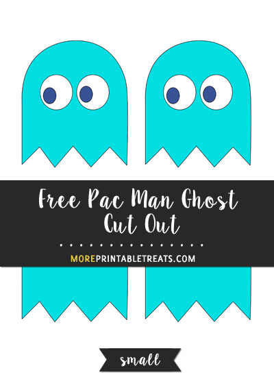 Free Blue Pac Man Ghost Cut Out - Small