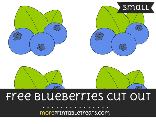 Free Blueberries Cut Out - Small Size Printable
