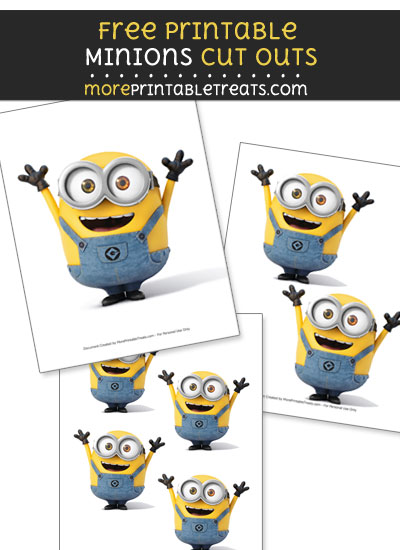 Free Bob from Minions Cut Outs - Printable