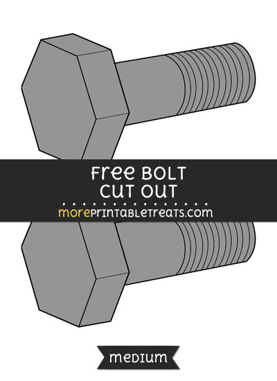 Free Bolt Cut Out - Medium Size Printable
