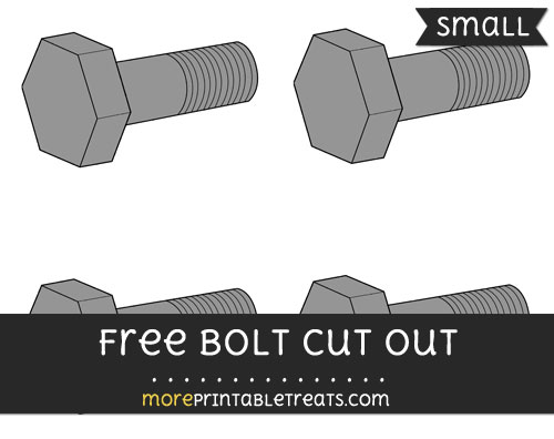 Free Bolt Cut Out - Small Size Printable