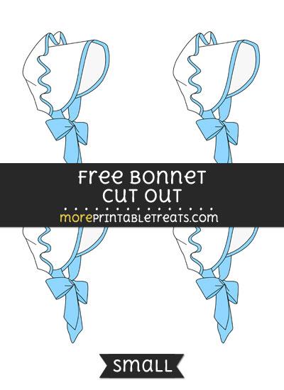 Free Bonnet Cut Out - Small Size Printable