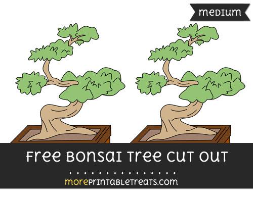 Free Bonsai Tree Cut Out - Medium Size Printable