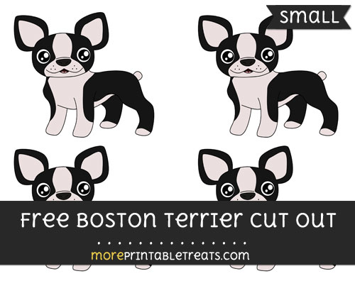 Free Boston Terrier Cut Out - Small Size Printable