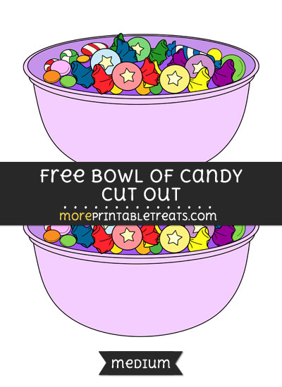 Free Bowl Of Candy Cut Out - Medium Size Printable
