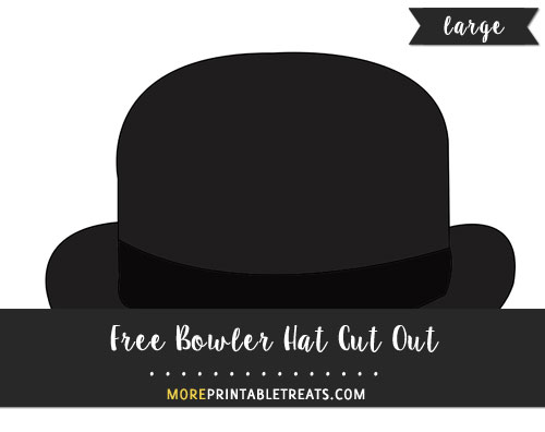 Free Bowler Hat Cut Out - Large
