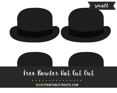 Free Bowler Hat Cut Out - Small